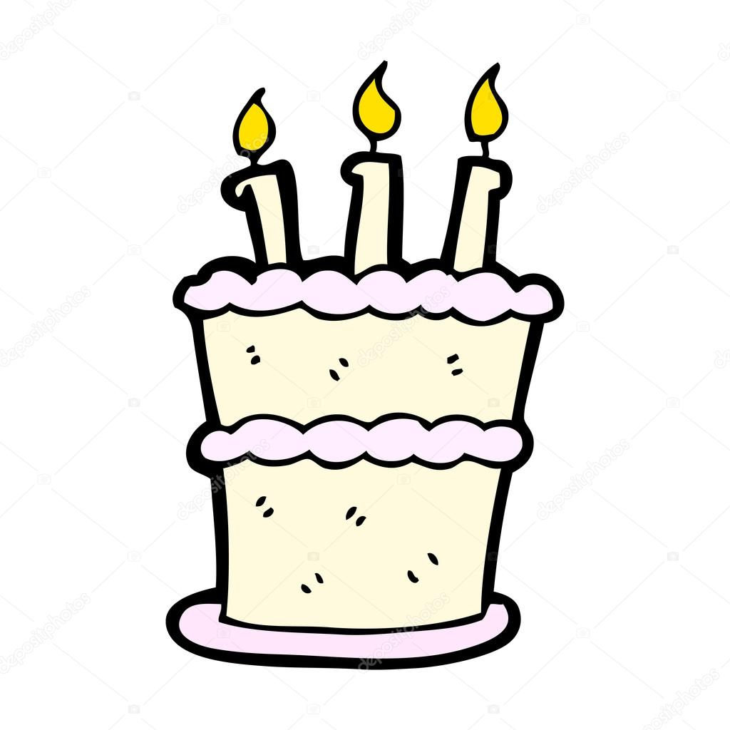 Cartoon cake with candles — Stock Vector © lineartestpilot ...