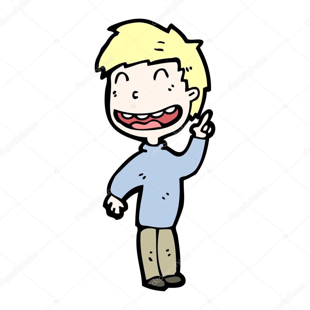 Happy child cartoon — stock vector lineartestpilot