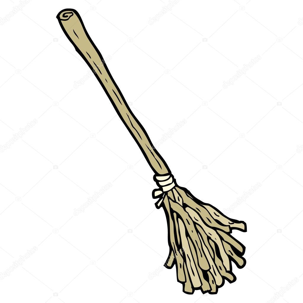 女巫的扫帚卡通 — 矢量图片作者