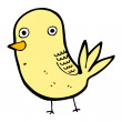 Staring bird cartoon character — Stockvektor