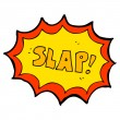 Cartoon comic book slap noise — Stock Vector