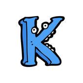 Dessin animé lettre k — Vecteur