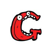 Cartoon letter g — Stock Vector