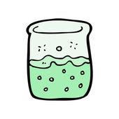 Cartoon science beaker — Stock Vector