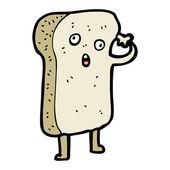 Pointing toast cartoon — Stock Vector