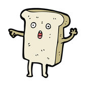 Pointing toast cartoon — Stockvektor