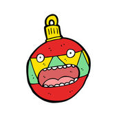 Xmas bauble cartoon — 图库矢量图片