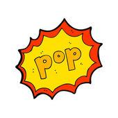 Pop cartoon comic book element — Stock Vector