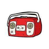 Retro cassette player cartoon — Stock Vector