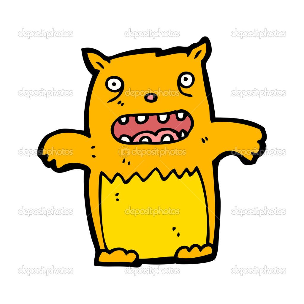 Cartone animato gatto giallo — vettoriali stock