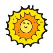 Cartoon sun character — Stock Vector