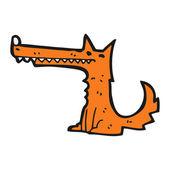 Long snout fox cartoon — Stock Vector