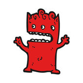 Little devil cartoon — Stock vektor