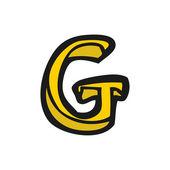 Dessin animé lettre g — Vecteur