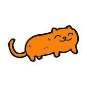 Ginger cat cartoon — Vector de stock