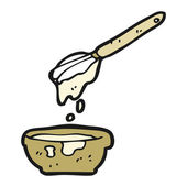Cooking mixture cartoon — Vecteur
