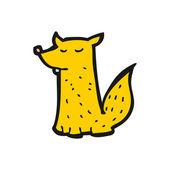 Fox cartoon — Stock Vector