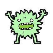 Furry little creature cartoon — Stock Vector