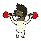 Cartoon man at the gym — Stock Vector