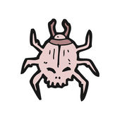 Halloween beetle cartoon — Stock Vector