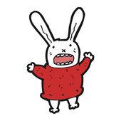 Desenho animado do coelho maluco — Vetor de Stock