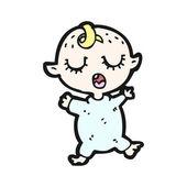 Bebé durmiente de dibujos animados — Vector de stock