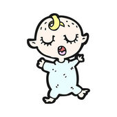 Slapende baby cartoon — Stockvector