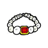 Necklace cartoon — Stock Vector