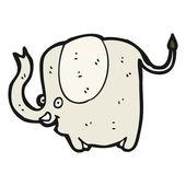 Happy elephant — Stock Vector