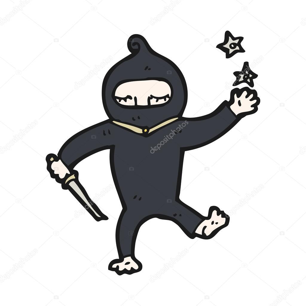 Cartone animato ninja — vettoriali stock lineartestpilot