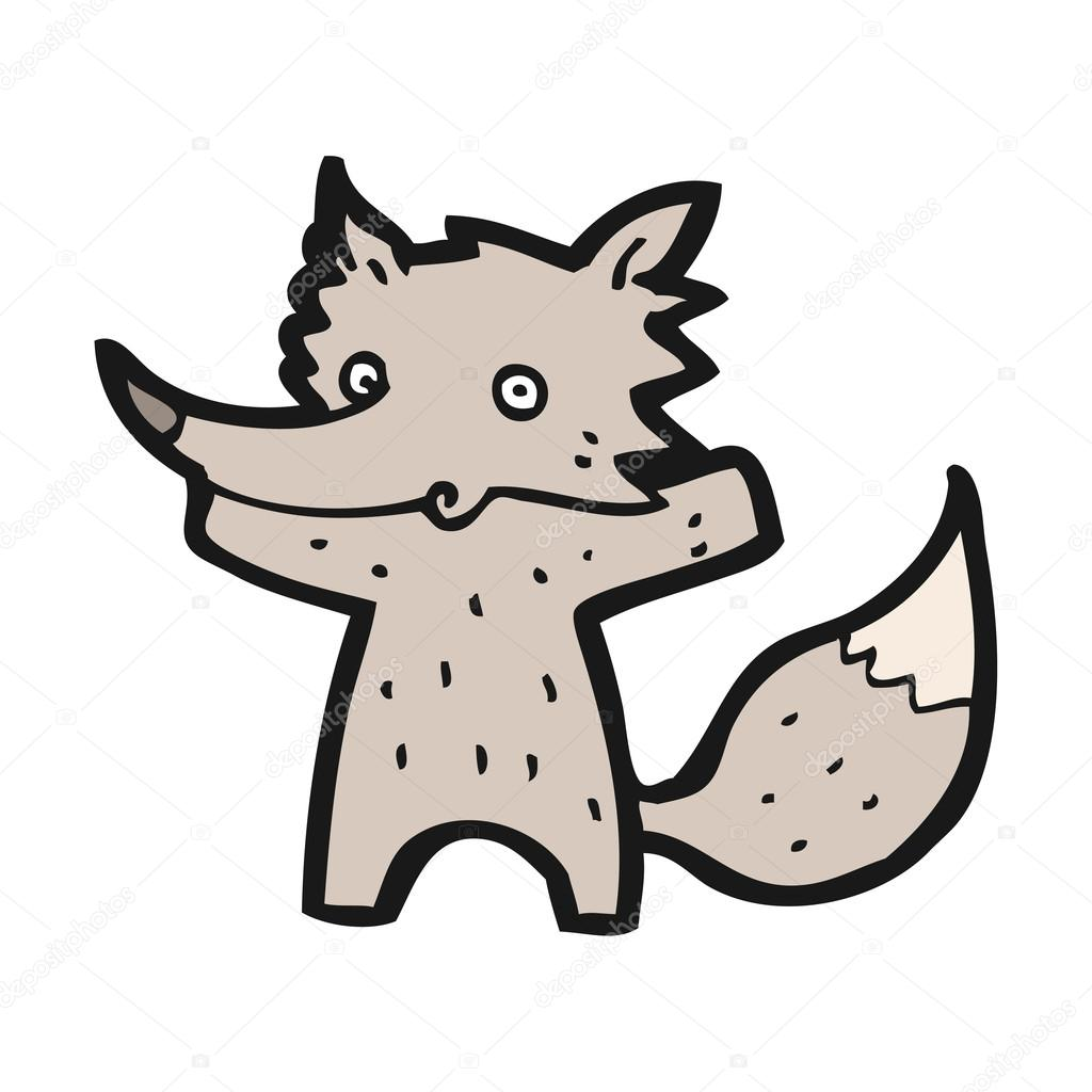 Cute little fox cartoon — Stock Vector #14926731