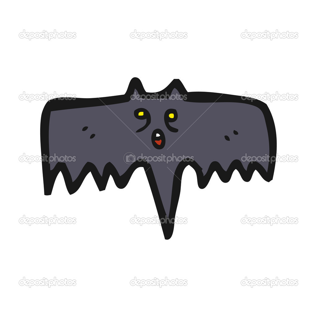 Halloween bat cartoon — Stock Vector #14927801