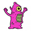 Vector de stock : Hideous monster cartoon