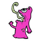 мультфильм отвратительный монстр — Cтоковый вектор