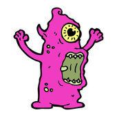 Schreckliche monster-cartoon — Stockvektor