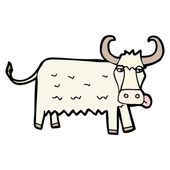 Yak cartoon — Stock Vector