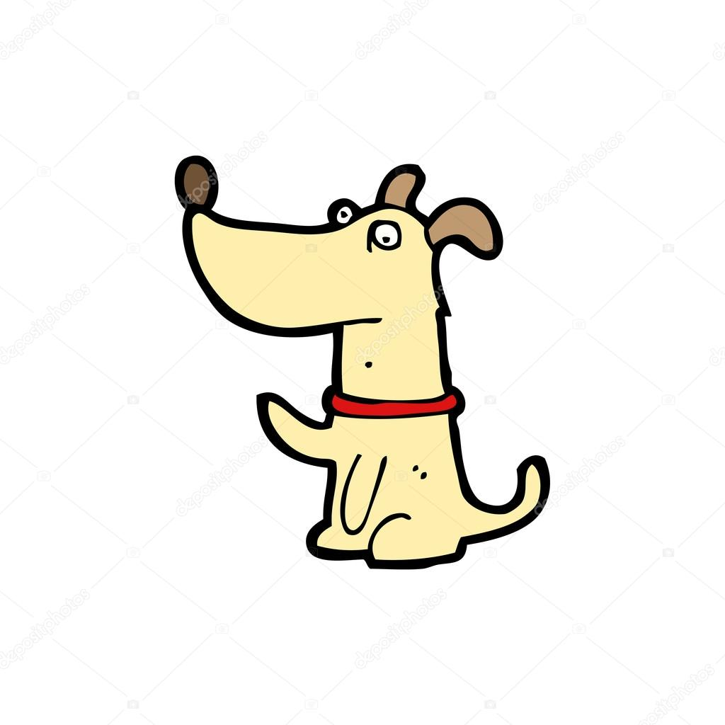 Happy dog cartoon — Stock Vector #14930381
