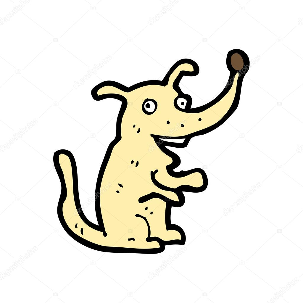 Happy dog cartoon  Stock Vector #14930409