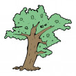 Tree cartoon - Stockvectorbeeld