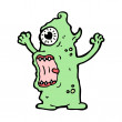 Vector de stock : Scary monster cartoon