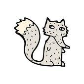Little wolf cartoon — Stock Vector
