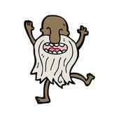 漫画裸の古い男踊り — ストックベクタ