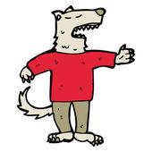 Wolf man cartoon — Stock Vector