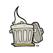 Rubbish bin cartoon — Stock Vector