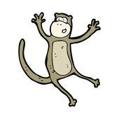 Jumping monkey cartoon — Stock Vector
