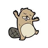 Beaver cartoon — Stock Vector