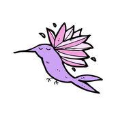 Hummingbird cartoon — Stock Vector