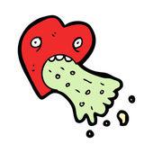 Lovesick cartoon — Stock Vector