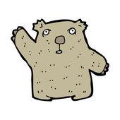 Wombat cartoon — Stock Vector