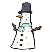 Snowman cartoon — Stock Vector